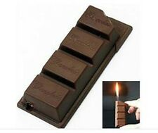 New Novelty Funny Creative Chocolate Candy Bar Shaped Pipe Cigarette Lighter