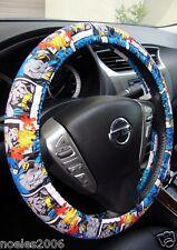 Handmade Steering Wheel Cover Blue Batman