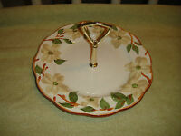 Vintage Stangl Pottery Colonial Dogwood Cake Dish W/Handle Trenton NJ Oven Proof