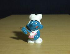 Smurfs Greedy Smurf Birthday Cake Baker Germany Vintage Toy Figure Cooking 20165