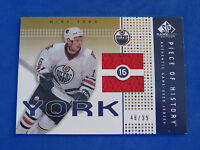 2002 SP GAME USED PIECE OF HISTORY ~ MIKE YORK JERSEY CARD ~ 49/99