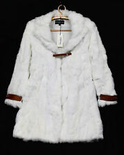 NWT $1,250 ERMANNO SCERVINO Junior B11BF611759 Girl's Sz 12 White Fur Coat