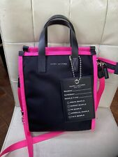 Marc Jacobs Retake Mini Nylon Tote Bag Black/Pink
