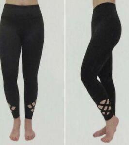 Women's Active Life  leggings yoga pants running exercise XL Blue