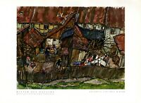 Städtchen im Harz XL 1932 Kunstdruck v. Walter Buhe * in Aschersleben Stadt Dorf