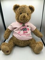 Gund Little Brown Bear Bloomingdales Teddy Plush Stuffed Toy Animal Pink T Shirt