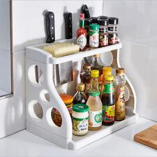 2 Tier Kitchen Cabinet Organizer Spice Rack Kitchen Storage Shelf Holder
