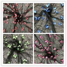 Breathable 3D Butterfly Design Fabrics Applique Patterns Fashion Mesh Lace Cloth