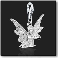 925 Sterling Silver Fairy Clip on Bracelet Charms for Charm Bracelets 3d