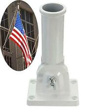 Flagpole Wall Mount Adjustable Metal Flagpole Holder for Flags Windsock Base
