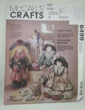 """McCall's Craft Patterns 6499  23"""" Dainty Dolls and Clothes Uncut and FF"""
