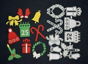 Christmas Themed Metal Cutting Dies Set, Card Making, Crafts Scrapbooking C4