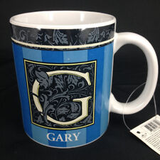 """New Russ Berrie """"Gary"""" Coffee Cup Mug  with Initial and Name"""