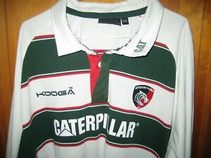 Leicester Tigers KOOGA Long Sleeved Heavy Rugby Shirt Jersey - Adults Size 3XL