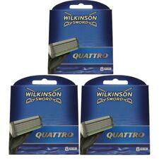 24 Wilkinson Sword Quattro Plus 3 x 8 Klingen Ersatzklingen NEU OVP