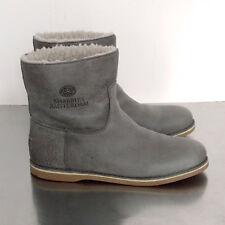 Shabbies Amsterdam 42 WinterStiefel €229 Lammfell grau Shearling Boots Halb Kurz