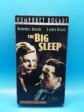 The Big Sleep Vhs Wb 2000 Film Noir Humphrey Bogart Lauren Bacall
