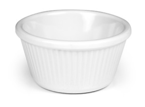 White Ketchup Mini Pots Dipping Pots Melamine Ribbed Ramekins 1oz 2oz 3oz 4oz