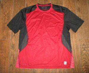 Mens Nike Pro Combat Short Sleeve FITTED Red/Black Training Shirt Sz. 2XL