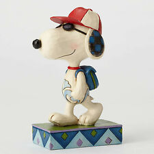 Jim Shore Peanuts Joe Cool Snoopy with Backpack 4052725