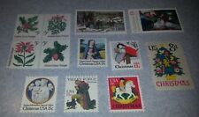 US Mint Never Hinged Postage Stamps 12 Different Holiday Stamps Face Value $1.25