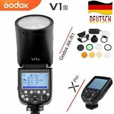 DE Godox V1S TTL 1 / 8000s HSS Runder Kopf blitz+AK-R1 Zubehör+Xpro-s für Sony