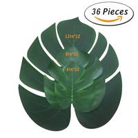36×Künstliche Tropische Palmblätter Kunstpflanzen Hawaiianische Simulation Dekor