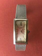 Montre bracelet Femme vintage « LOV » argent massif 0,835  Bon état Fonctionne