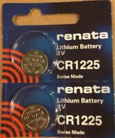 2 Renata CR1225 1225 Lithium Coin Cell Batteries Swiss Made- USA SELLER