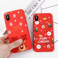 For iPhone XS MAX XR X 6 7 8 Plus 3D Christmas Xmas Case Soft Rubber Thin Cover