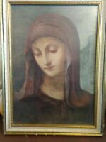 Vintage M I Hummel Print Of The Virgin Mary. Exclusive To Hummel Club Members In