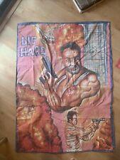 Huge Rare Die Hard Ghana Movie Poster Oil On Floursack By Mr Brew
