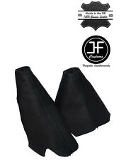 BLACK STITCH LEATHER HANDBRAKE HI-LOW TRANSFER GAITERS FOR LAND ROVER DISCOVERY