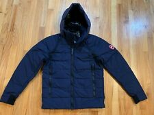 New Canada Goose Mens Hybridge Base Hooded Jacket Navy Down Insulated 2741M