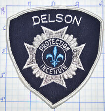 CANADA, DELSON FIRE PROTECTION INCENDIE QUEBEC WHITE EDGE PATCH