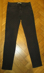 Karen Millen Stretchy Black Studded Skinny Leg Jeans 10