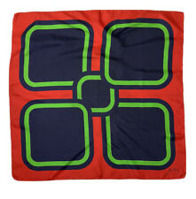 JEAN PAIX scarf 100% silk GEOMETRIC 29''/30'' GOOD CONDITION