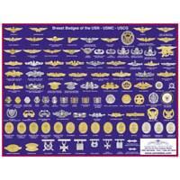 US Navy, USMC, USCG Badge Poster
