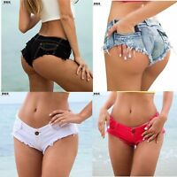 Sexy Women Mini Hot Pants Jeans Micro Shorts Denim Low Waist Shorts New YR