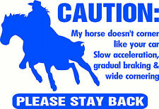 Caution, Horse Float Large Sticker Decal 585 x 400mm