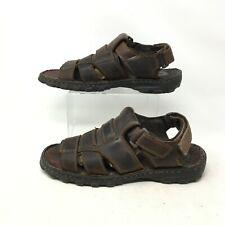 Skechers Casual Fisherman Sandals Open Toe Hook And Loop Leather Brown Mens 10