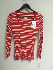 BNWT Ladies Crew Clothing Co Red & White Rosie Rib Top, UK Size 12, Tagged