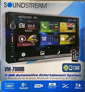 Soundstream VM-700HB 2 DIN AUX/USB/MP3 Media Player Bluetooth Android Phone NEW