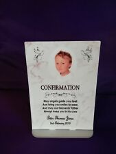 Personalised A5 Freestanding Confirmation Plaque Gift