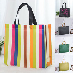 Non-woven Fabric Flower Shopping Bag Reusable Pouch Travel Storage Handbag 1pc