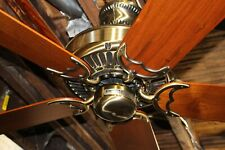 "Restored Vintage Casablanca Panama 5 Antique Brass 50"" Ceiling Fan Made in USA!"