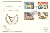 25 MARCH 1981 YEAR OF DISABLED PEOPLE COTSWOLD FIRST DAY COVER GUIDE DOGS SHS