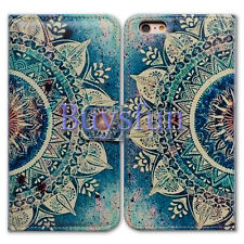 Bcov Green Circular Mandala Wallet Leather Cover Case For iPhone 6 Plus/6S Plus