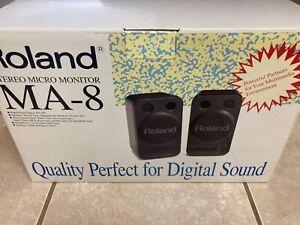 Roland MA-8 Powered Micro Black Monitors (Computer Speakers) - New!