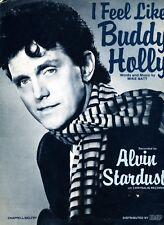 I Feel Like Buddy Holly - Alvin Stardust - 1984 Sheet Music